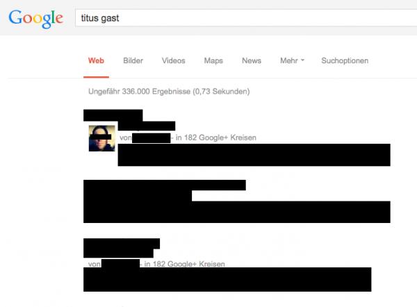 Google-Suche zensiert